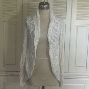 Anthropologie KNITTED & KNOTTED Cream Sweater M